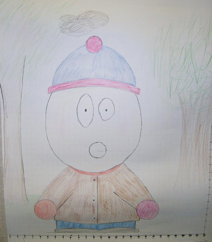 The South Park figure that I drew.